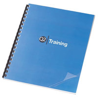 Swingline GBC 2000036 11 1/4 inch x 8 3/4 inch Clear Unpunched Binding System Cover - 100/Box