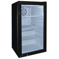 Excellence EMM-4S Black Countertop Display Refrigerator with Swing Door - 3.8 Cu. Ft.
