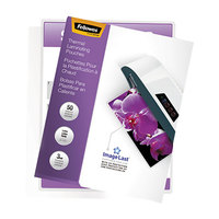 Fellowes 52225 ImageLast 11 1/2 inch x 9 inch Letter Laminating Pouch - 3 Mil - 50/Pack