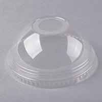 Fabri-Kal DLKC16/24 Kal-Clear / Nexclear 12 /14, 16 / 18, 20, and 24 oz. Clear Plastic Dome Lid with 1 inch Hole - 1000/Case