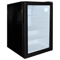 Excellence EMM-3S Black Countertop Display Refrigerator with Swing Door - 2.5 Cu. Ft.