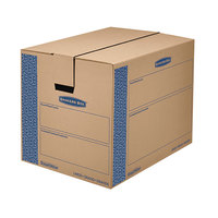 Banker's Box 0062901 SmoothMove Prime 24 inch x 18 inch x 18 inch Kraft / Blue Large Moving Box   - 6/Case