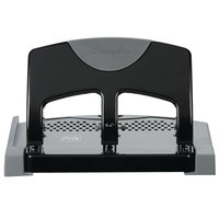 Swingline 74136 45 Sheet SmartTouch Black and Gray 3 Hole Punch - 9/32 inch Holes