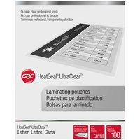 Swingline GBC 3745022 UltraClear 11 1/2 inch x 9 inch Letter Thermal Laminating Pouch - 100/Pack