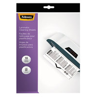 Fellowes 5320603 8 1/2 inch x 11 inch White Laminator Cleaning Sheet   - 10/Pack