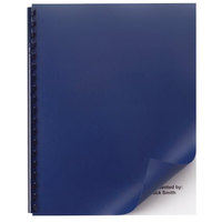 Swingline GBC 2514494 11 inch x 8 1/2 inch Opaque Navy Unpunched Binding System Cover - 50/Pack