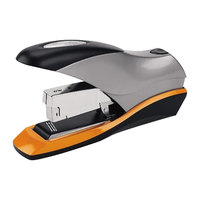 Swingline 87875 Optima 70 Sheet Silver / Black Half Strip Desktop Stapler