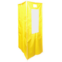 Curtron SUPRO-14-Y Yellow Vinyl Medum Duty Bun / Sheet Pan Rack Cover - 23 inch x 28 inch x 62 inch