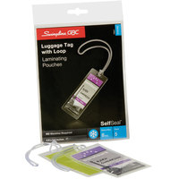 Swingline GBC 3745165 SelfSeal 2 7/8 inch x 4 5/8 inch Luggage Tag Cold Laminating Pouch - 5/Pack