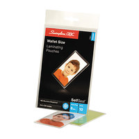 Swingline 3745685 SelfSeal 2 3/8 inch x 3 7/8 inch ID Badge Cold Laminating Pouch - 10/Pack