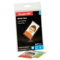 Swingline GBC 3745685 SelfSeal 2 3/8 inch x 3 7/8 inch ID Badge Cold Laminating Pouch - 10/Pack