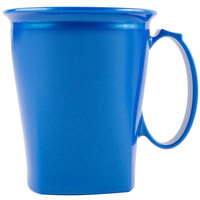 Cambro MDSHM8489 Harbor Collection Metallic Blue 8 oz. Insulated Plastic Mug - 12/Pack