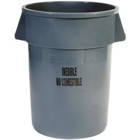Rubbermaid FG264356GRAY Brute 44 Gallon Gray Inedible Trash Can