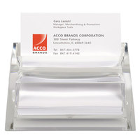 Swingline10135 Acrylic 4 1/2 inch x 3 1/2 inch Name / Business Card Holder