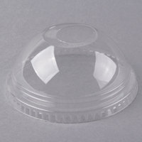 Fabri-Kal DLKC12/20 Kal-Clear / Nexclear 9 oz. Clear Plastic Dome Lid with 1 inch Hole - 1000/Case