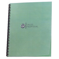Swingline GBC 2514496 Design View 11 inch x 8 1/2 inch Clear Unpunched Binding System Cover - 25/Pack