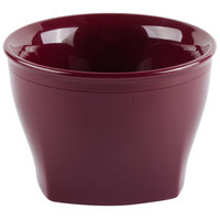 Cambro MDSHB5487 Harbor Collection Cranberry 5 oz. Insulated Plastic Bowl - 12/Pack