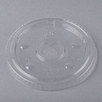 Fabri-Kal LKC16/24 Kal-Clear / Nexclear 12 / 14, 16 / 18, 20, and 24 oz. Clear Plastic Flat Lid with Flavor Buttons and Straw Slot - 1000/Case