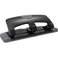 Swingline 74133 20 Sheet SmartTouch Black and Gray 3 Hole Punch - 9/32 inch Holes