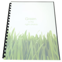 Swingline GBC 25817 100% Recycled 11 inch x 8 1/2 inch Frost Unpunched Binding System Cover - 25/Pack