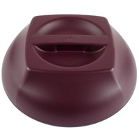 Cambro MDSHD9487 Harbor Collection Cranberry 10 1/4 inch Insulated Plastic Dome Plate Cover   - 12/Case