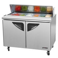 Turbo Air TST-48SD 48 inch 2 Door Refrigerated Sandwich Prep Table
