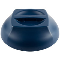 Cambro MDSHD9497 Harbor Collection Navy Blue 10 1/4 inch Insulated Plastic Dome Plate Cover - 12/Case