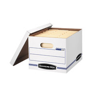 Fellowes 0006301 Banker's Box Easylift 13 1/4 inch x 12 3/4 inch x 10 1/2 inch White Letter File Storage Box with Lift-Off Lid - 12/Case