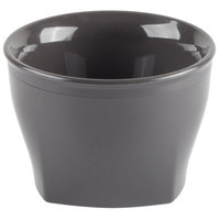 Cambro MDSHB5485 Harbor Collection Smoked Metal 5 oz. Insulated Plastic Bowl - 12/Pack