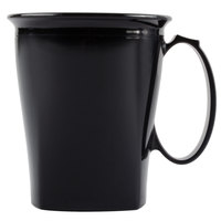 Cambro MDSHM8110 Harbor Collection Black 8 oz. Insulated Plastic Mug - 12/Pack