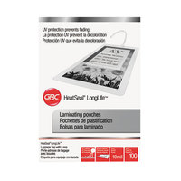 Swingline 3202105 LongLife 2 1/2 inch x 4 1/5 inch ID Badge Thermal Laminating Pouch - 100/Box