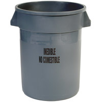 Rubbermaid FG263256GRAY Brute 32 Gallon Gray Inedible Trash Can