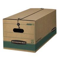 Fellowes 00774 15 1/4 inch x 24 1/8 inch x 10 3/4 inch Kraft Extra-Strength Legal Sized Storage Box - 12/Case