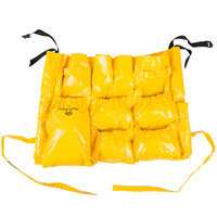 Continental 3175 Yellow Vinyl Caddy Bag for Huskee Trash Cans