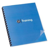 Swingline GBC 2000041 11 inch x 8 1/2 inch Clear Unpunched Binding System Cover - 100/Box
