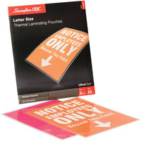 Swingline GBC 3745690 UltraClear 11 1/2 inch x 9 inch Letter Thermal Laminating Pouch - 50/Box