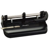 Swingline 74350 32 Sheet Black 2-7 Hole Punch with Lever Handle - 9/32 inch Holes