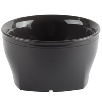 Cambro MDSHB9485 Harbor Collection Smoked Metal 9 oz. Insulated Plastic Bowl - 12/Pack