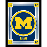 Holland Bar Stool MLogoMichUn 17 inch x 22 inch University of Michigan Decorative Logo Mirror