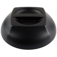 Cambro MDSHD9110 Harbor Collection Black 10 1/4 inch Insulated Plastic Dome Plate Cover   - 12/Case
