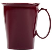 Cambro MDSHM8487 Harbor Collection Cranberry 8 oz. Insulated Plastic Mug - 12/Pack