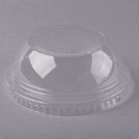 Fabri-Kal DLKC12/20S Kal-Clear / Nexclear 9 oz. Clear Plastic Squat Dome Lid with 1 3/4 inch Hole - 1000/Case