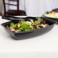 Cambro RSB1014CW110 5 Qt. Black Camwear Rectangular Ribbed Bowl