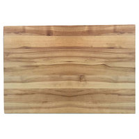 Tablecraft CBW1520175 20 inch x 15 inch x 1 3/4 inch Wooden Butcher Board Chopping Block