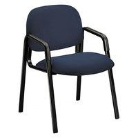HON H4003 Blue Arm Chair with Black Frame
