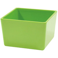 Tablecraft M4024LG Contemporary Melamine Collection 32 oz. Lime Green Straight Sided Bowl - 5 inch x 5 inch x 3 inch