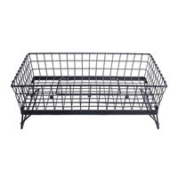 Tablecraft GMT21125 Grand Master Transformer Black Powder Coated Metal Full Size Rectangular Basket - 20 1/2 inch x 12 inch x 5 inch