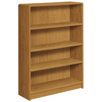 HON 1894C 1890 Series Harvest 4 Shelf Laminate Wood Bookcase - 36 inch x 11 1/2 inch x 48 3/4 inch