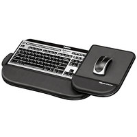 Fellowes 8060201 Tilt 'n Slide Pro 19 1/2 inch x 11 1/2 inch Black Keyboard Manager with Comfort Glide