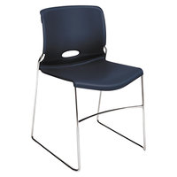 HON H4041 Olson Regatta Blue High-Density Stackable Chair - 4/Case